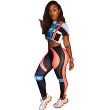Load image into Gallery viewer, Letter Print Fitness Two Piece Outfits