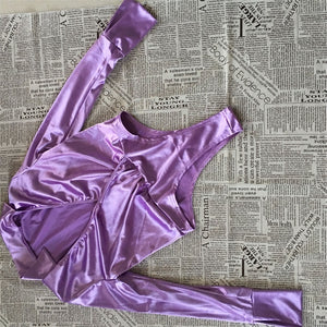 Satin Silk Sexy Two Piece Set