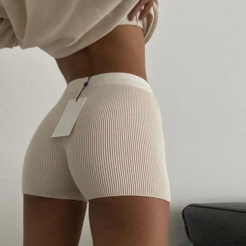 Casual Fashion White Black High Waist