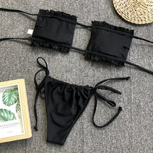 Load image into Gallery viewer, Pleated Bandeau Swimsuit