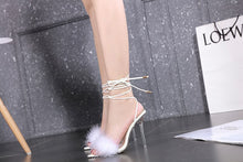 Load image into Gallery viewer, Sexy Feather  Sandals  Pointed Toe Snake Print