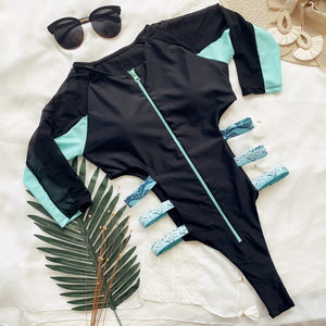 Sports one piece swimsuit