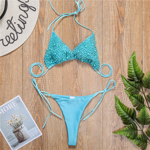 Halter Mini Bikini  Swimsuit