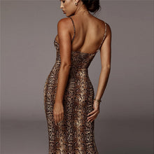 Load image into Gallery viewer, V Neck Backless Straps Bodycon Dress