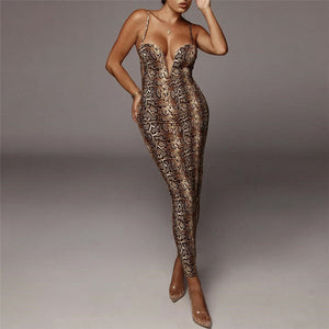 V Neck Backless Straps Bodycon Dress