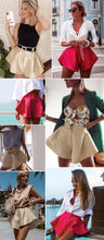 Load image into Gallery viewer, Solid Wide Leg Shorts Button High Waist