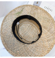 Load image into Gallery viewer, Wide Brim Seagrass Straw Hat