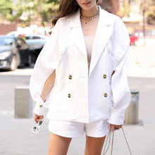 Load image into Gallery viewer, Chic Batwing Sleeve Hole Autumn Coats