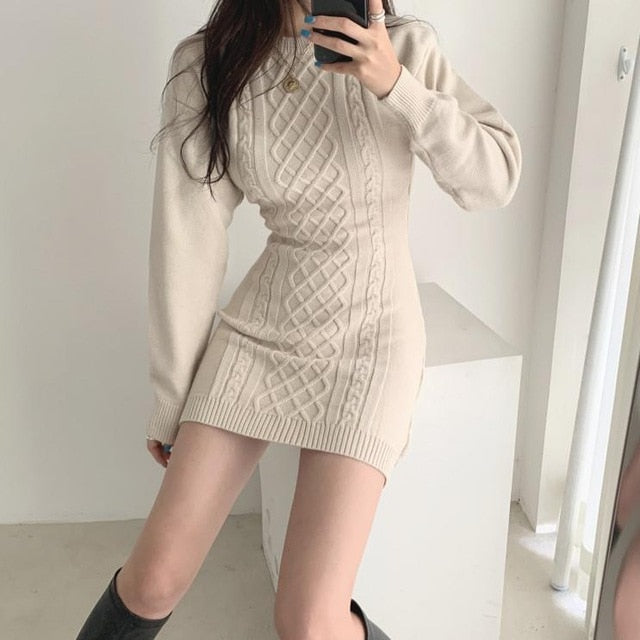 New Autumn Spring Sexy Fashion Causal Dress