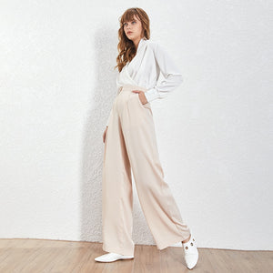 Loose Casual Trousers High Waist Maxi Wide Leg Pants