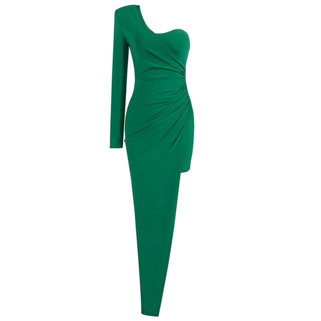 Elegant Green Long Dress
