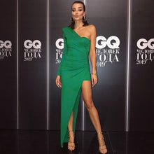 Load image into Gallery viewer, Elegant Green Long Dress