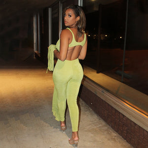 2 Piece Sets  Outfits Fall Winter  Backless Bodycon