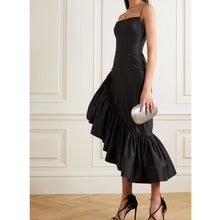 Load image into Gallery viewer, Ruffled Patchwork Pleated Elegant Dress
