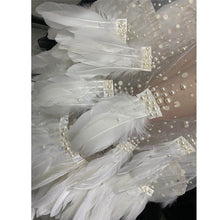 Load image into Gallery viewer, Elegant White Feather Mesh See Through