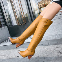 Load image into Gallery viewer, Plus size 34-45 New Genuine leather boots