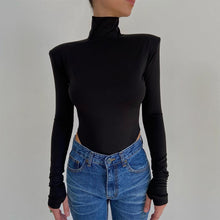 Load image into Gallery viewer, Backless Bodysuits Turtleneck