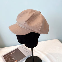Load image into Gallery viewer, New Pu Octagonal Cap In Autumn  British Retro Trend