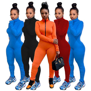 Elastic Hight Fitness Rompers Long Sleeve