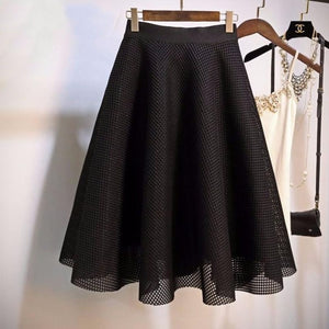 Fashion High Waist A-line Knee-length Skirt