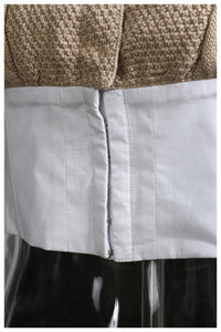Khaki Knitting Stitch Short Blouse