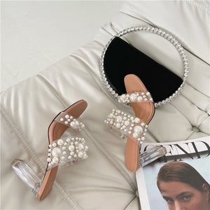 New Transparent PVC String Bead Shoes