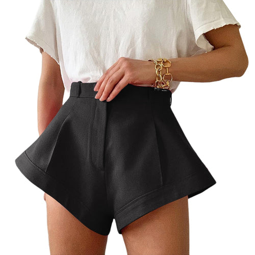 Beauty High Waist Wide Leg Shorts