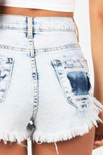 Load image into Gallery viewer, Distressed Denim Shorts Fashion
