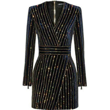 Load image into Gallery viewer, Bling Bling Long Sleeve Dress
