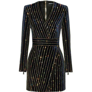 Bling Bling Long Sleeve Dress