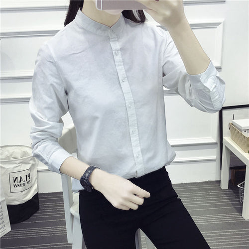 New Arrival Shirt Casual Cotton Stand Collar Solid