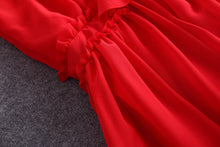 Load image into Gallery viewer, Maxi Elegant Red Chiffon Vintage Ruffles Long