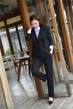 Load image into Gallery viewer, Formal  Business Suits 3 Piece Vest, Pant and Jacket Set Blue Blazer