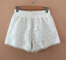 Load image into Gallery viewer, Summer Lace Shorts  Out Wear Thin Shorts