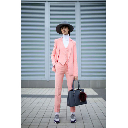 New Pink  Set Pant Suits Tuxedo