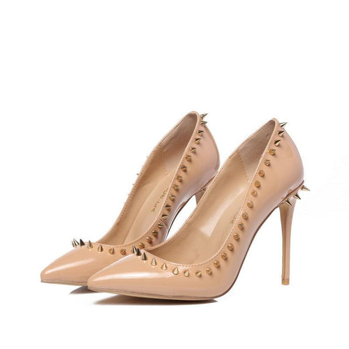 Nude Genuine Leather Pointed Toe
