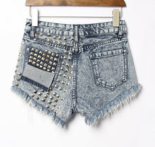 Load image into Gallery viewer, High Waisted Short Jeans Punk