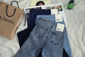 High Waist Jeans  Casual Stretch  Pencil Jeans