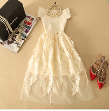 Load image into Gallery viewer, Lace Bandage Patchwork Stretch Elegant Dress