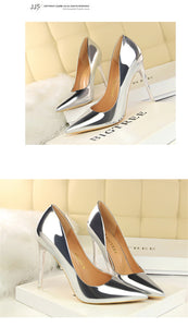 Patent Leather Thin Heels  New Arrival  Pumps