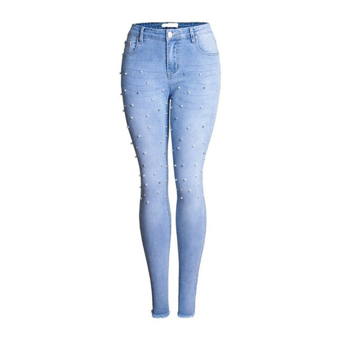 Denim Pants Stretch  Ripped Skinny Jeans