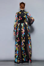 Load image into Gallery viewer, Floral Print Chiffon Party Holiday Long Dress