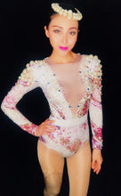 Load image into Gallery viewer, Sexy Elastic Sparkly Diamond Pearl Bodysuit
