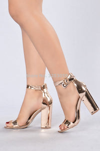 Chic Champagne Patent Leather Sandals