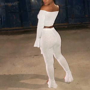 Bandage Rompers Jumpsuit High Elastic Flare