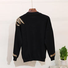 Load image into Gallery viewer, Winter Handmade Beading Sequined Pattern  Long Sleeve Knitted