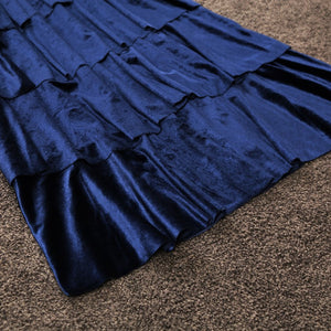 new  velvet sling V collar sleeveless layer cake dress