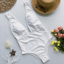 Load image into Gallery viewer, High Cut Swimwear  Solid One Piece