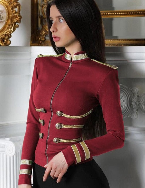 Elegant Long Sleeve Bandage Jacket Bodycon