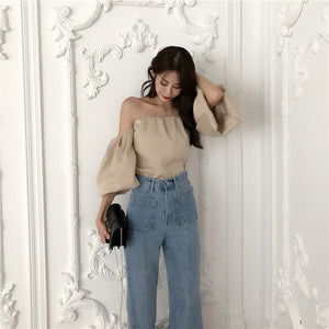 Vintage High Waist Flare Jeans High Quality Skinny